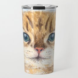 Yellow tabby cat Travel Mug