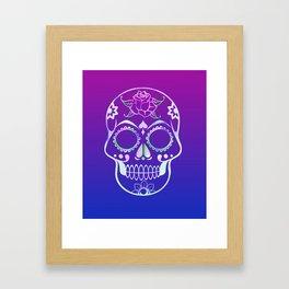 Love Skull (violette gradient) Framed Art Print