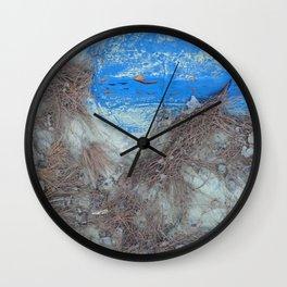 Pine Litter Wall Clock