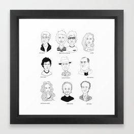 HBO show posse Framed Art Print