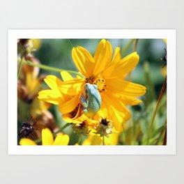 Froggy Floral Art Print
