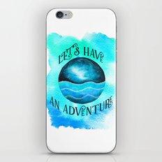 Let's Have an Adventure - Galaxy Ocean Wanderlust Watercolor iPhone & iPod Skin