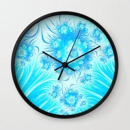 Abstract Christmas Ice Garden Wall Clock