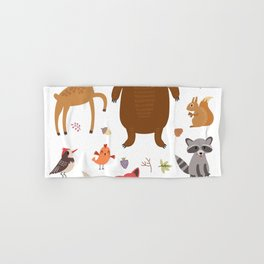 Forest Critters Hand & Bath Towel