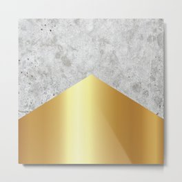 Concrete Arrow Gold #372 Metal Print