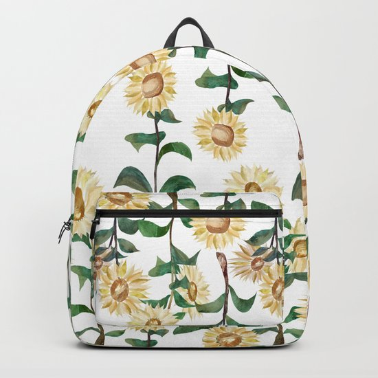 Sunflower Pattern Backpack
