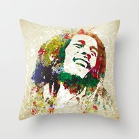 reggae Throw Pillows featuring Reggae Music Man by Gary Grayson