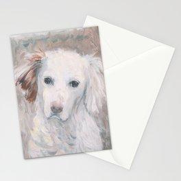 White Dog #2 Stationery Cards