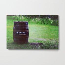 Whiskey Keg Metal Print
