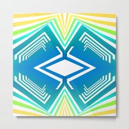Geometric blue sunset abstract Metal Print
