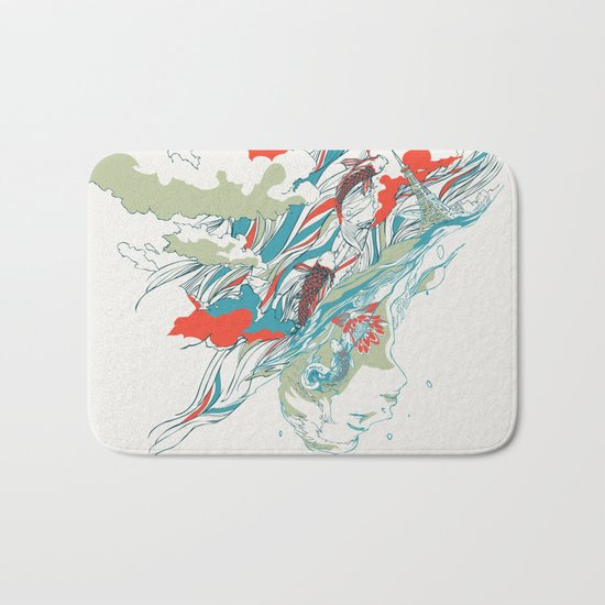 Colours In The Sky Bath Mat