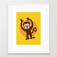 monkey Framed Art Prints featuring Monkey by BATKEI