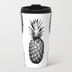 Black & White Pineapple Travel Mug