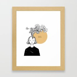 Always Thinking Framed Art Print