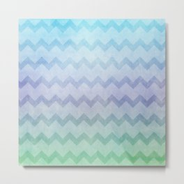 under the sea chevron Metal Print