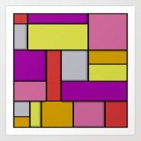 mondrian Art Prints featuring Mondrian #6 by Ron Trickett