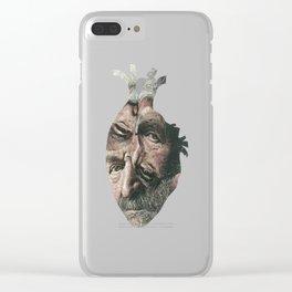 Weary Heart Clear iPhone Case