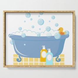 Bubble Bath Tub Serving Tray