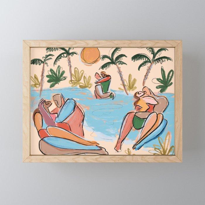 Summer kisses Framed Mini Art Print
