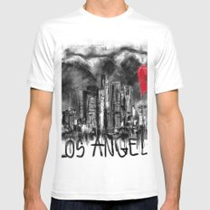 I love Los Angeles MEDIUM Mens Fitted Tee White