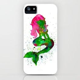 Watercolor Mermaid iPhone Case