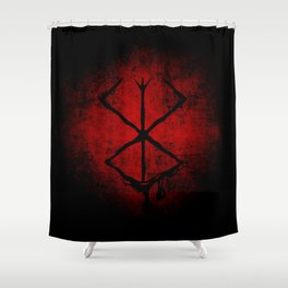Black Marked Berserk Shower Curtain