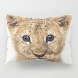 Baby Lion, Baby Animals Art Print By Synplus Pillow Sham