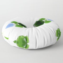 Sea Glass 1 Floor Pillow
