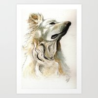 jake Art Prints featuring Jake by Victoria Richards