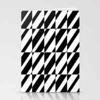 grid Stationery Cards featuring Grid by Laura Maria Designs
