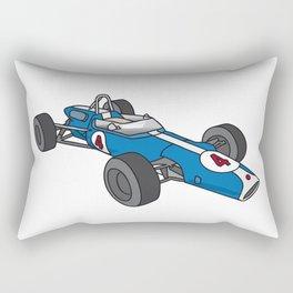 Blue vintage racing car / racecar Rectangular Pillow