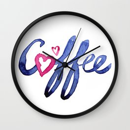Coffee Lover Typography Wall Clock