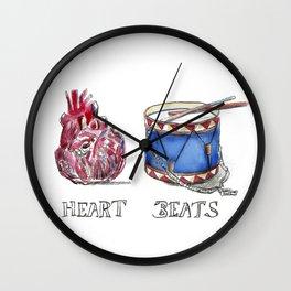 heart beats Wall Clock