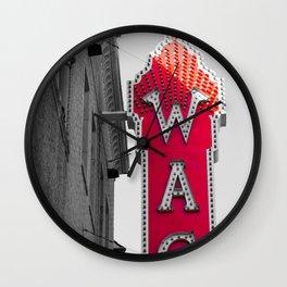 Waco Texas Marquee Theatre Retro Sign Wall Clock