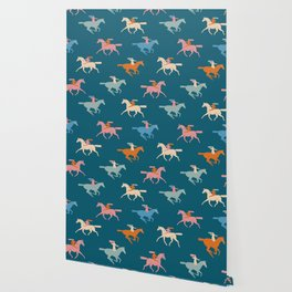 Naked derby dark blue Wallpaper