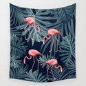 Summer Flamingo Jungle Night Vibes #1 #tropical #decor #art #society6 by anitabellajantz