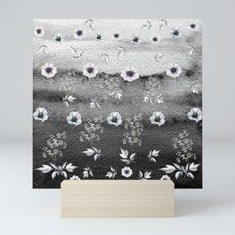 Winter Flower Garden Mini Art Print