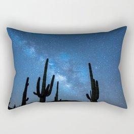 Milky Way, Dreams and Succulents Rectangular Pillow