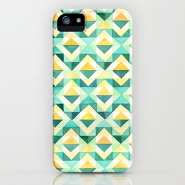 Quilted Diamond // Geometric Watercolor Pattern iPhone Case
