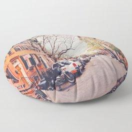 New York City - Springtime in the West Village Floor Pillow