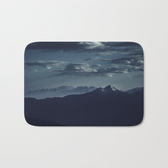 Lonely peak of the mountains Bath Mat