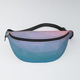 Abstract colorful triangles background Fanny Pack
