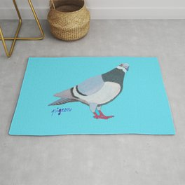 The inquistive pigeon Rug