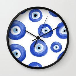 Nazar - Turkish Evil Eye Print Wall Clock