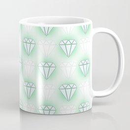 diamond pattern green Coffee Mug