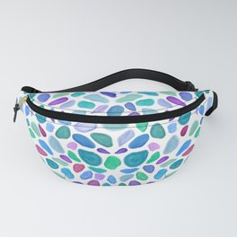 Scattered Sea Glass Pattern Fanny Pack