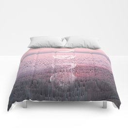 Glitches at Sunset Comforters