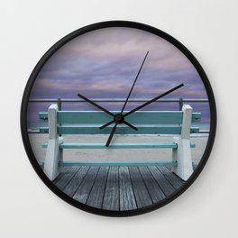 Jersey Shore Bench Wall Clock