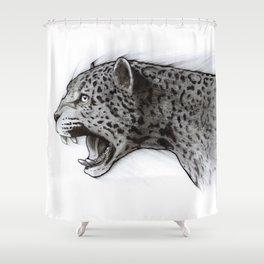 Jaguar Charcoal Shower Curtain
