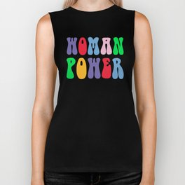 Woman Power Feminist Quote Biker Tank